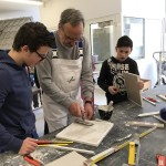 Besuch der Eichholzschule Sindelfingen in der ÜbA Leonberg