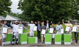 13 stolze Preisträger der Sto-Stiftung vom Ausbildungszentrum Leonberg/Rutesheim